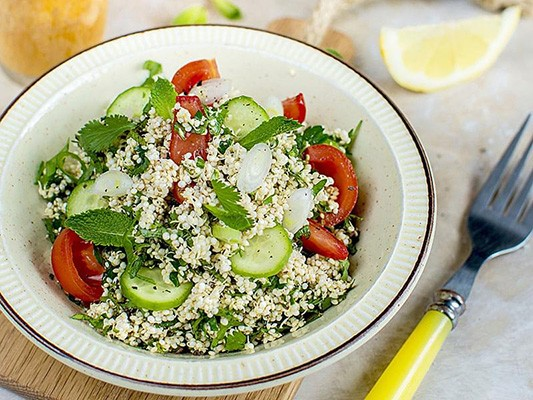 Sprouted-Quinoa Tabbouleh Salad